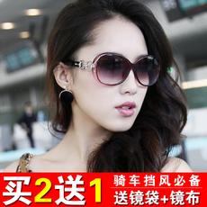 新款潮流女士太阳镜圆脸防晒防风防紫外线百搭墨镜骑车太阳眼镜