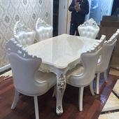 欧式餐桌椅守镜窕ǚ阶 大理石田园餐桌椅组合小户型6人住宅家具