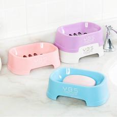 创意沥水皂盒 洗脸香皂盒 塑料肥皂架 浴室简约字母纯色肥皂盒