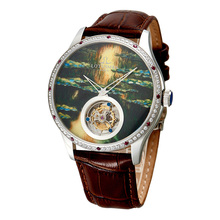 法国罗蒂诗蔓品牌男士手表机械表珐琅定制陀飞轮腕表礼品7009GS