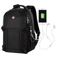 瑞士军刀双肩包男大容量背包商务电脑包高初中学生书包旅行包