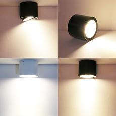 明装筒灯LED天花灯服装店铺吸顶射灯过道玄关走廊灯吧台圆形筒灯