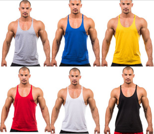 MAN tank top GYM muscle bodybuilding sport vest 男士健身背心