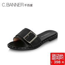C.BANNER/千百度2018夏季新品商场同款平底女鞋凉鞋拖鞋A8397202
