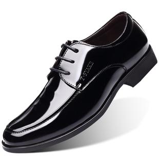 大码45商务漆皮男鞋46男士大号结婚鞋47英伦真皮新郎48小码皮鞋37