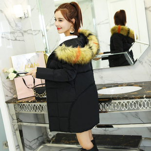 棉袄女2019新款韩版反季棉衣中长款宽松bf爆款大码加厚棉服外套潮