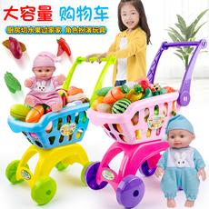 儿童过家家购物车玩具男孩女孩切水果蛋糕切切乐宝宝娃娃小手推车