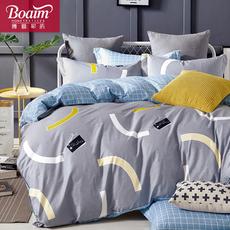 博爱家纺纯棉四件套床上用品1.8m1.5m宿舍被套全棉床品床单三件套