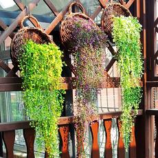 金钟柳壁挂 仿真藤条装饰树叶假绿植塑料叶子客厅墙壁绿叶装饰