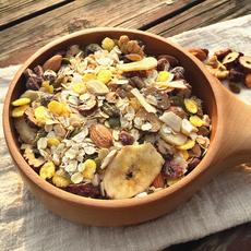蔓越莓坚果燕麦片水果麦片混合坚果仁五谷杂粮营养代餐粥免煮即食