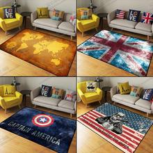 英伦米字旗地毯客厅创意长方形国旗地毯卧室床边地垫定制 潮流个性