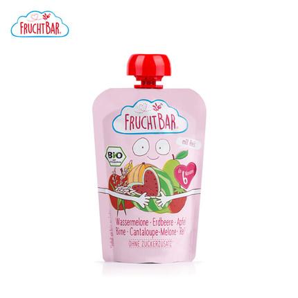 德国Fruchtbar宝宝水果泥苹果草莓西瓜婴幼儿辅食100g天然无添加
