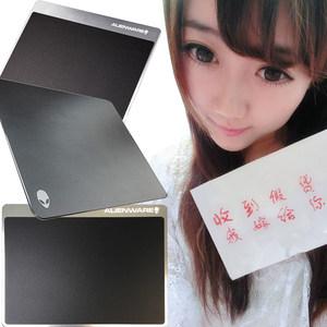 包邮戴尔外星人游戏鼠标垫办公铝合金树脂面板鼠标垫超大小尺寸