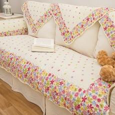 沙发垫田园加宽四人日式白色通用椅垫后背面纱芝华士功能沙发木制