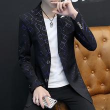 中长款 潮男个性 西服 薄款 风衣男韩版 2018秋季男士 修身 外套休闲男装