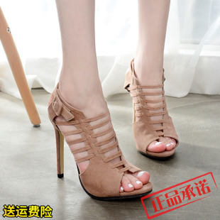Fashion beautiful hollow high-heels women Roman shoe sandals