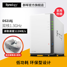 Shunfeng Free Domestic Freight Synology DS218j 2 Disk Location NAS Network Home Storage Data Server Private Cloud Disk