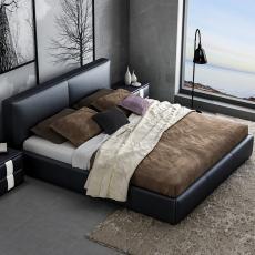 北欧皮床真皮床1.8米现代简约小户型婚床主卧皮艺床双人床榻榻米