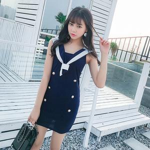 清纯网络甜美yy主直衣服装上镜学生美女装夜店性感可爱连衣裙