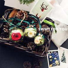 永生花车挂车载花盒车饰亚克力球复古礼物新年创意生日礼品包邮