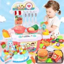 Restaurant toys cooking kitchen cooking games boys girls babies cooking pupils gifts