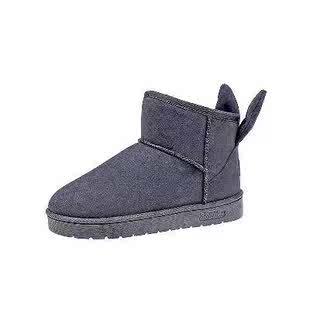 2018冬季防水防滑雪地靴女皮毛一体学生矮筒短靴保暖加厚低筒棉鞋