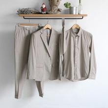 修身 子衬衣三件套装 春夏薄款 西服 脊椎动物男装 法式优雅西装