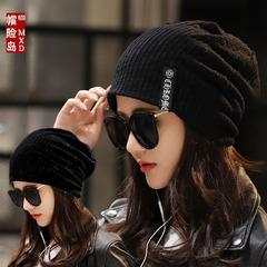 韩版中年女士套头帽子春秋双层头巾帽冬天骑车防风护耳保暖堆堆帽
