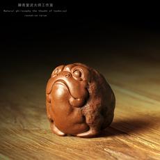 宜兴紫砂雕塑茶宠 徐峰全手工首创实心 金蟾 限量收藏珍藏版 孤品
