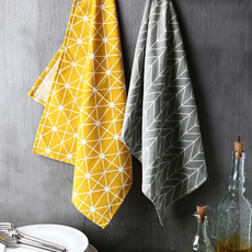苏黎世家居 创意北欧简约条纹餐巾 厨房居家餐桌装饰布艺棉麻餐巾