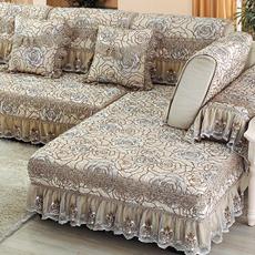 四季通用亚麻欧式沙发垫布艺简约现代沙发套全包组合沙发巾罩全盖