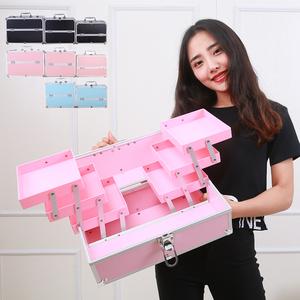 大号大容量多层专业化妆包手提美甲纹绣彩妆半永久工具箱韩国包邮