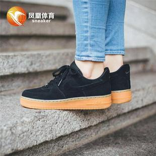 凤凰体育Nike Air Force 1 '07 LV8 Suede 黑棕AA1118 AA1117-001
