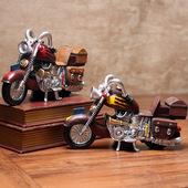饰品摆设 欧式复古怀旧摩托池P桶诩家居客厅酒柜咖啡厅儿童房装