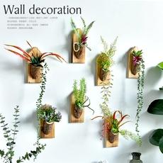 田园壁挂立体木桩盆栽墙面装饰阳台店铺面组合壁饰植物挂件挂饰