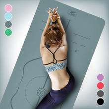 PU Natural Rubber Yoga Mat Beginners'Non-skid Men and Women Widened 68 cm Professional Yoga Fitness Mat Three-piece Set
