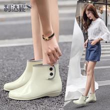可爱雨鞋短筒韩版时尚雨靴女士防滑套鞋成人防水鞋女雨靴加绒胶鞋