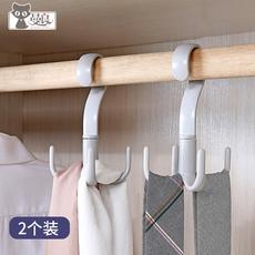 丝巾架围巾架多功能衣架塑料挂领带皮带包包帽子的收纳挂架子家用