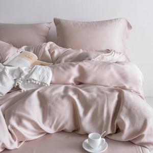 慢漫BAB裸睡系列 60支天丝四件套莱赛尔被套床单床笠纯色素色北欧四件套