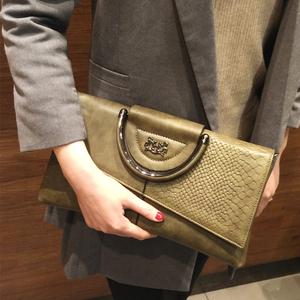 手拿包女士大容量简约手提包包2017新款女包手包小包宴会包斜挎包手包