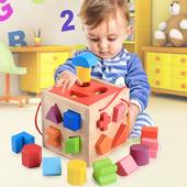 积木 幼儿童婴儿拼装 一周岁半男宝宝益智力玩具0 3岁早教女孩