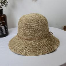 夏天草编草帽女青年韩版小清新折叠休闲百搭沙滩防晒遮阳渔夫帽子