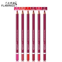 火烈鸟唇线笔幻彩灵动塑形唇笔木杆眼线口红笔持久显色彩妆女 正品