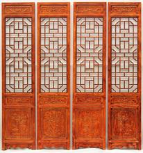 屏风隔断折屏客厅卧室门厅房间玄关中式复古守菊鄣移动住宅家具