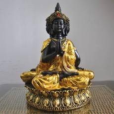 东南亚风格释迦牟尼佛像摆件家居装饰品泰式创意工艺品摆设三面佛