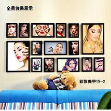 美甲装饰画彩妆美女现代挂画美容店SPA馆壁画有框画化妆品店墙画