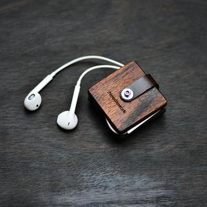 两针一线耳机绕线器真皮耳机收纳盒集线器保护线理线器