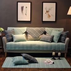 北欧沙发垫巾套罩冬季防滑简约现代全棉四季客厅通用布艺清新坐垫
