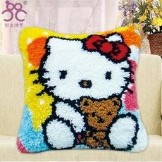 家居地毯绣抱枕段段绣靠枕包邮十字绣卡通zd254