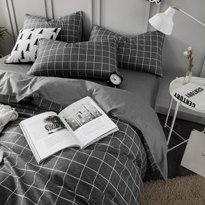 床上纯棉四件套 全棉床单被套被子床笠男宿舍简约三件套单人夏季三件套床单